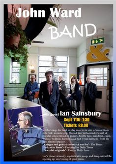 John Ward Band to Play at Beccles Public Hall on Sunday 11th September 2016