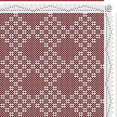 Hand Weaving Draft: No 10. Diamond Diaper., J. and R. Bronson, 6S, 6T - Handweaving.net Hand Weaving and Draft Archive