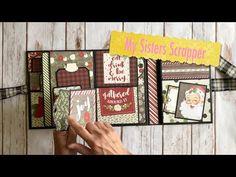 Diy Mini Album, Mini Album Tutorial, Christmas Mini Albums, Christmas Minis, Mini Scrapbook Albums, Scrapbook Journal, Folio Books, Mini Photo Albums, Diy Crafts For Girls