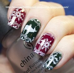 Pretty holiday nails.