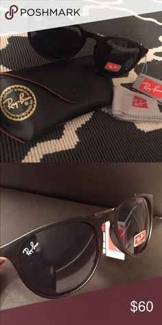 NWT RAY-BAN ERIKA BLACK SUNGLASSES RB4171 Brand new Ray Ban Erika sunglasses. These sunglasses are not authentic but are almost exactly the same. I have a pair and can't tell the difference. You will love these! Model RB4171. These are matte and black. No trades. Ray-Ban Accessories Sunglasses