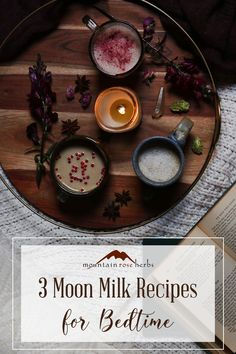 3 Magic Moon Milk Recipes for Restful Sleep: A warm, creamy beverage before bed … – Food for Healty Yummy Drinks, Healthy Drinks, Fancy Drinks, Moon Milk Recipe, Plat Vegan, Mountain Rose Herbs, Milk Alternatives, Unrefined Coconut Oil, Milk Recipes