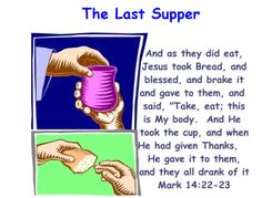 Holy Thursday : Maundy Thursday : The Last Supper Catholic Catechism, Teaching Religion, Holy Thursday, Maundy Thursday, Spiritual Words, Catholic Crafts, Easter Story, Bible Lessons, Object Lessons