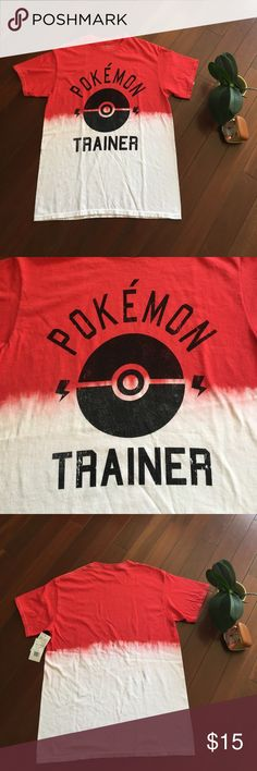 Unisex Pokemon Trainer Graphic Tee Unisex Pokemon trainer graphic tee. Size Small. No Price tag however other tag is still attached. 100 % Cotton. Color: Red Dip Dye. Made in Honduras. Printed in Mexico. Measurements: Shoulder to Shoulder: 17. 5 inches. Armpit to Armpit: 18.5 inches. Shoulder to hem: 26 inches. All measured laying flat. Pokemon Shirts Tees - Short Sleeve