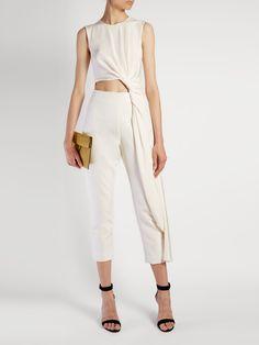 Thurloe cut-out knot-front crepe jumpsuit | Roksanda | MATCHESFASHION.COM