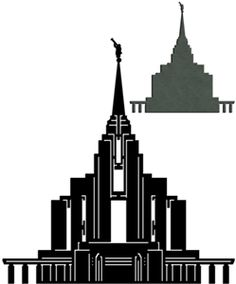 Silhouette Design Store: Lds Temples - Rexburg, Id Rexburg Temple, Rexburg Idaho, Mormon Temples, Lds Temples, Tunnel Book, Pop Up Art, Shadow Box Art, Paper Bead Jewelry, Silhouette Online Store