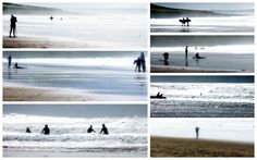 Surf at Croyde bay North Devon...