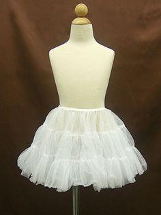 Short Petticoat For Flower Girl - Off the shoulder Taffeta Flower girl Dress
