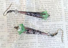 Green Filigree Earrings Victorian Inspired Green by LeParisMetro, #Etsy  #EtsyRMP