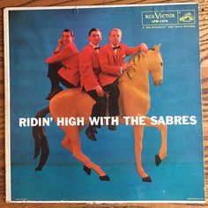The Sabres -Ridin' High with the Sabres / RCA Victor LPM-1376 / Vocal Trio w Orchestra on Mono Vinyl / 1957