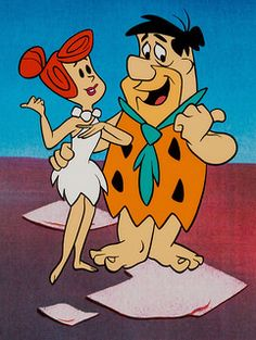 The Flintstones Fred and Wilma Publicity Cel Animation Art (Hanna-Barbera)