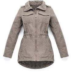 Marc New York � Bonnie � Brushed Cotton Jacket ($50) ❤ liked on Polyvore featuring outerwear, jackets, ash, cloth & rain, brown jacket, marc new york jacket and marc new york