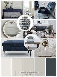 Farrow and Ball neutrals together with this classic blue create a wonderful calm and relaxing interior with plenty of style! Lounge Colour Schemes, Living Room Color Schemes, Paint Colors For Living Room, Bedroom Colors, Living Room Designs, Living Room Decor, Farrow And Ball Living Room, Farrow And Ball Paint, Hallway Colours
