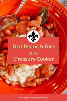#ad Delicious, Easy, Fast and Frugal Recipe for a Louisiana staple: Red Beans and Rice! Learn to make it FAST in a pressure cooker and FRUGAL with the LifeInCheck™ EBT Snap App! #LifeInCheck ##EBTSNAPapp #recipe #redbeansandrice #pressurecooker #neworleans