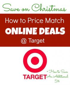 HOT TIP for the holidays, Price Match Online Prices in stores at Target and Save 5% + Avoid paying shipping from online sites!!! Great way to take advantage of online prices in stores. This post has all the details. #christmas #shopping #target