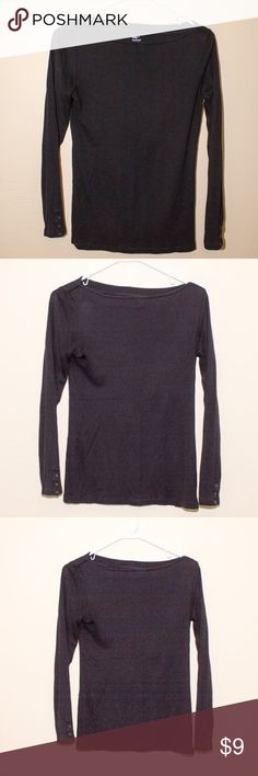 Gap Supersoft Shirt, Size Small Black, Boatneck Gap Long Sleeve Shirt - From the Supersoft Collection. So soft and comfy! GAP Tops Tees - Long Sleeve