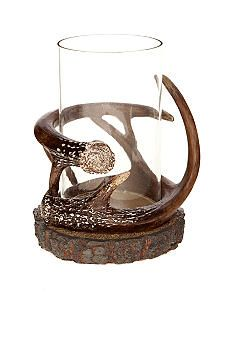Home Accents® Craft Christmas Antler Glass Candle Holder