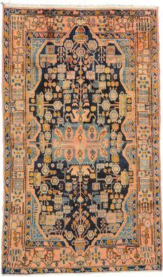 Navy Blue 4' 8 x 7' 10 Nahavand Rug | Persian Rugs | eSaleRugs