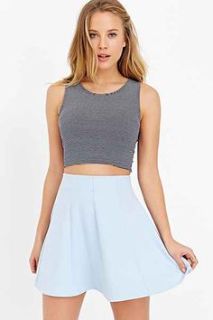 Kimchi Blue Flirt With Me Seamed Skirt - Urban Outfitters