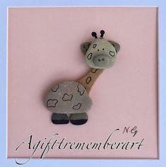 """ little giraffe"" my new design for kids! Know someone with a new baby? Then this is just a perfect gift. #agifttorememberart #pebbleart #beach #art #originalart #handmade #australia #etsy #baby #kids #toddler #newbaby #giftideas #animallovers #craft #adelaide #shipworldwide #birthday #newborn #makersgonnamake #roomdecor #beachdecor #etsyau #etsyshop #funnyanimal"