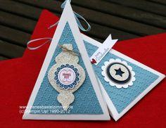 Dreieckschachtel-Ornament Keepsakes-Peppiges Potpourrie-Stanzer Wellenkreis klein-Stanzer Stern-Stanzer Kreis-Prägefolder-Big Shot-Stampin' Up!