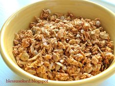 Bless Us O Lord...: Pumpkin Spice Granola