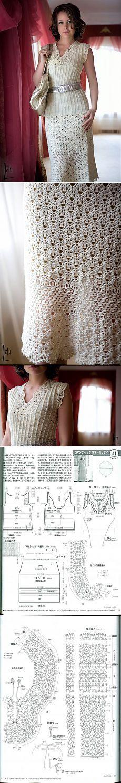 Красивое платье крючком – Мир вязания и рукоделия | топы кофты жакеты | Постила