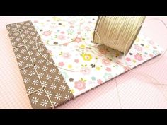 Cómo hacer encuadernación japonesa. Tutorial (MUY FÁCIL) - YouTube