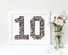 Your place to buy and sell all things handmade Birthday Photo Collage, Birthday Photos, Collage Photo, 25th Anniversary Gifts, Anniversary Photos, Photocollage, Milestone Birthdays, 16th Birthday, Etsy Handmade