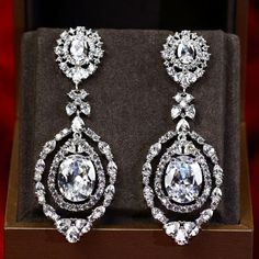 Zircon Earring JHZ-255 USD59.14, Click photo to know how to buy / Contact me for discount, follow board for more inspiration