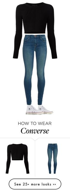 """""""Untitled #1"""" by izzy11213 on Polyvore featuring мода, J Brand, Cushnie Et Ochs и Converse"""