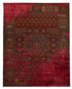 Patternbank are in love with these stunning carpets by designer Jan Kath. As one of the most in-demand designers of hand knotted carpets Kath purposely bre Oriental Pattern, Oriental Rug, Matilda, Jan Kath, Kalamkari Designs, Textiles, Textile Prints, Indian Rugs, Textile Fiber Art