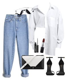 """""""Sans titre #623"""" by charliesclothes ❤ liked on Polyvore featuring Yves Saint Laurent, Chanel and MAC Cosmetics"""