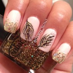 40 Feather Nail Art Ideas