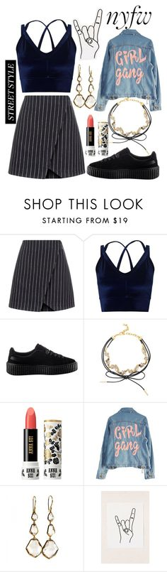 """""""N° #178"""" by nguyethang ❤ liked on Polyvore featuring New Look, Miss Selfridge, Puma, BaubleBar, Anna Sui, High Heels Suicide, Ippolita and Urban Outfitters"""