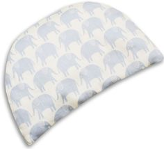 WeBe - Baby's First Pillow - Blue Elephant Print
