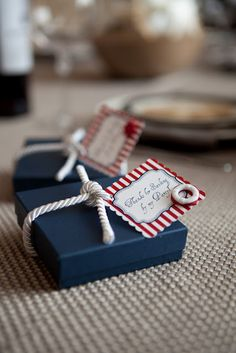 Nautical themed wrapping