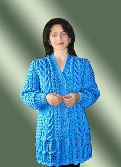 Baby Sweater Patterns, Baby Cardigan Knitting Pattern, Baby Hats Knitting, Crochet Jacket, Knitted Hats, Knit Crochet, Aran Jumper, Border Embroidery Designs, Sweater Design