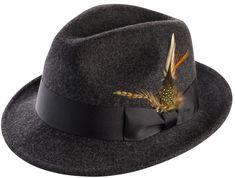 Montique Men's Felt Hat Style #H-10 Color Charcoal