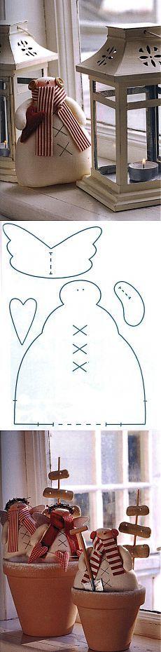 Тильда снеговик выкройка, которую можно скачать. | тильда мастер (тильдамастер)