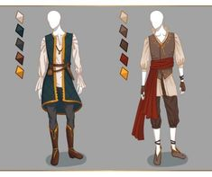 FREK Guard Raven :: Mythica Artemis/Arion- CLOSED Fashion adoptables - Male outfits by Ayleidians Character Costumes, Character Outfits, Fantasy Costumes, Fantasy Outfits, Fantasy Clothes, Medieval Clothing, Medieval Fashion, Drawing Clothes, Anime Outfits