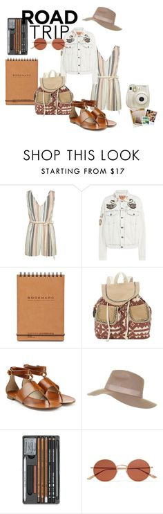 """""""Summer Road Trip"""" by wkhliovass ❤ liked on Polyvore featuring New Look, Marc Jacobs, Sun N' Sand, Michael Kors, Polaroid, Topshop, Oliver Peoples, Fuji and roadtrip"""