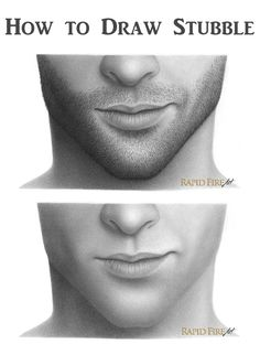 Detailed Tutorial: How to Draw Stubble Broken down to each individual hair. Learn how to draw white, light and dark stubble. http://rapidfireart.com/2017/01/03/how-to-draw-stubble/