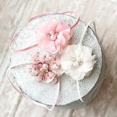 Set of 3 Chiffon Flower Headband, Photography Prop, Headband, Newborn Headband, Baby Headband,
