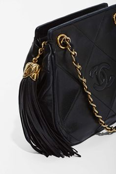 Vintage Chanel Black Tassel Bag #nastygal
