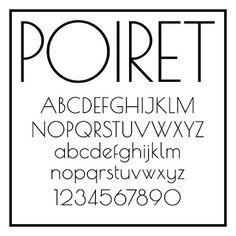 Sans Serif Fonts - Poiret One