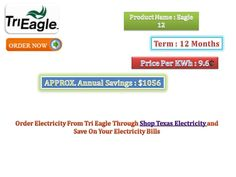 Order Electricity From Tri Eagle Through Shop Texas Electricity and Save On Your Electricity Bills. Cheap Electricity, Electricity Bill, Eagle, Texas, How To Plan, Shopping, Eagles