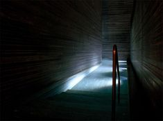One of the small indoor pools inside Peter Zumthor's Therme in Vals, Switzerland. Beautiful calm and serene atmosphere.
