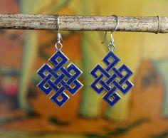 Dharmashop.com - Lapis Eternal Knot earrings, $58.00 (http://www.dharmashop.com/lapis-eternal-knot-earrings/)