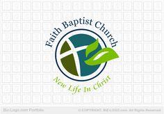Replace leaf with wheat-Logo Design: Leaf Baptist Church Logo